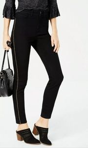 Style & Co Chain Embellished Black Skinny Jeans